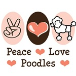 Peace Love Cartoon Poodle T shirt Gifts
