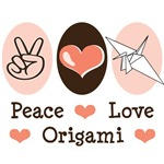 Peace Love Origami Crane T-shirt Gifts