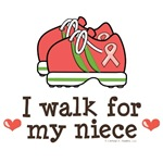 I Walk For My Niece Pink Ribbon Tees Support Gear