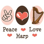 Harp T shirt & Harp Gifts For a Harper or Harpist