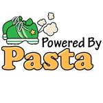 Powered By Pasta Funny Runner T shirt Gifts