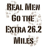 Real Men Go The Extra 26.2 Miles T shirt Gifts