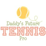 Daddy's Future Tennis Pro Baby Kids T shirt Gifts