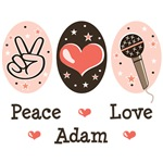 Peace Love Adam Lambert T shirts Apparel and Gifts
