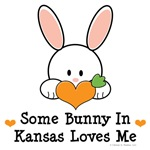Some Bunny In Kansas Loves Me T-shirt Gifts