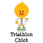 Triathlon Chick T-shirt Tees Tri Chick Gifts