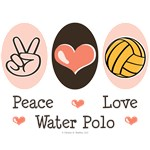 Peace Love Water Polo T-shirts Tees Gifts