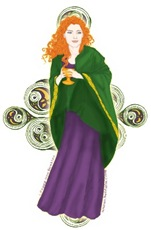 Celtic Grail Maiden Artwork T-Shirts and Gifts