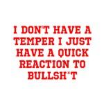 Temper vs Bullsh*t