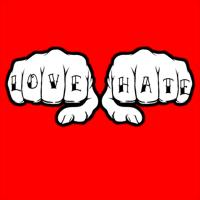 Love Hate Tattoo Fists