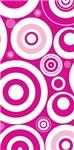 Retro Pink Circles Vintage