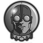 Retro Sci-fi Spaceman B&W