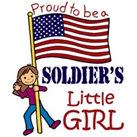Proud to Be a Soldier's Little Girl (Brown Hair)