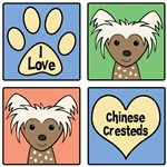 I Love Chinese Cresteds (Brown Chinese Crested)