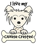 White Chinese Crested Cartoon