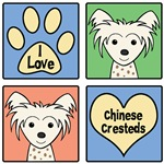 I Love Chinese Cresteds (White Chinese Crested)