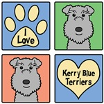 I Love Kerry Blue Terriers