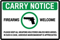 Carry Notification Signs