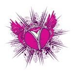 funky unzipped heart vector illustration