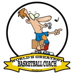 WORLDS GREATEST BASKETBALL COACH CARTOON