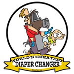 WORLDS GREATEST DIAPER CHANGER DAD CARTOON