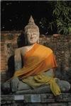 Stone Buddha Bathing in Sunlight
