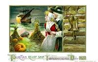 Puritan Relief Ship Thanksgiving Day 1620