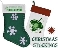 Christmas Stockings with Green Living Designs