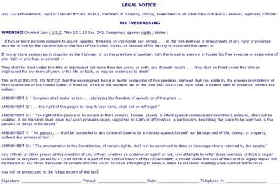 Legal Notice #1 Landscape