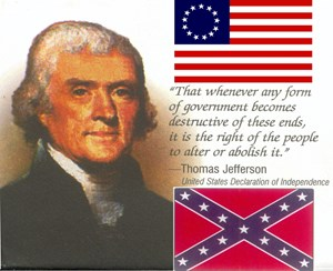 Jefferson & Two Flags
