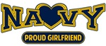 T-shirts, hats, mugs, stickers and gift items for Navy Girlfriend