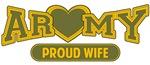 T-shirts, mugs, hats and stickers with text - Army Wife