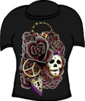 Roses Skulls Lock and Key