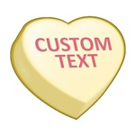 Yellow Custom Candy Heart