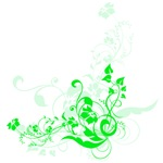 Green Flower Swirls