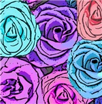 Abstract Roses