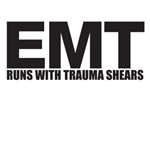 Runs with trauma shears