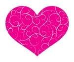 Pink Swirly Heart