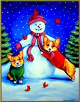Corgi Frosty's Helpers