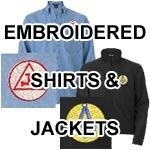 Jackets, shirts, embroidery
