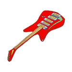red electric guitar musical design
