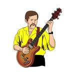 semi hollow guitarist yellow