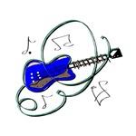 blue asbtract guitar swirls