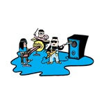 cartoon band blue