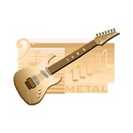 electric guitar gold image