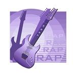 electric guitar music purple rap design