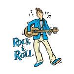 rock n roll guy blue