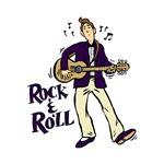 rock n roll guitarist purple