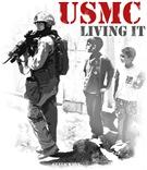 USMC Living It T-Shirts & Gifts