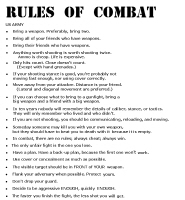 RULES FOR COMBAT